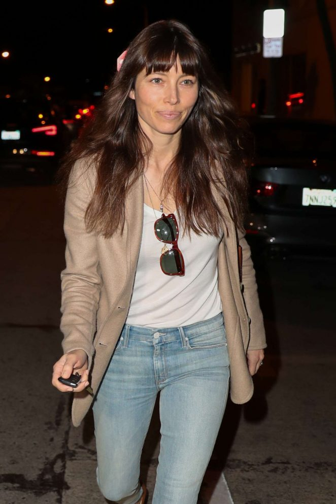 Jessica Biel - Leaving Au Fudge Restaurant in West Hollywood