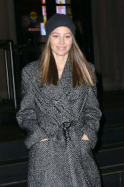 Jessica Biel - Leaving the 'Generation Women: A Fresh Start' literary salon in NY