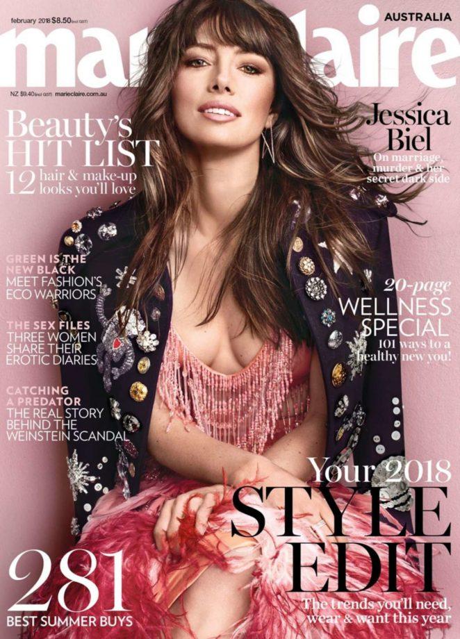 Jessica Biel - Marie Claire Australia Cover (February 2018)