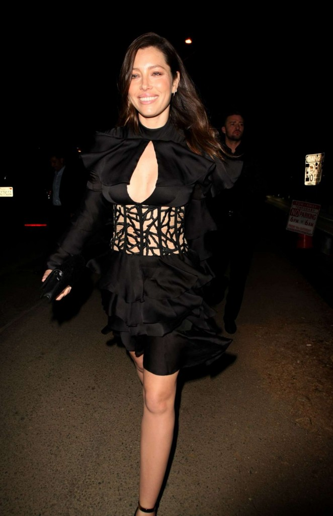 Jessica Biel – Night Out in Beverly Hills