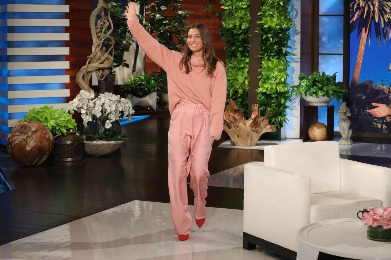 Jessica Biel on Ellen Show in LA