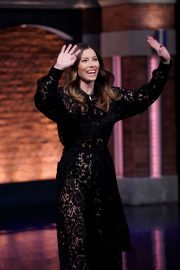 Jessica Biel - On 'Late Night with Seth Meyers' in New York City