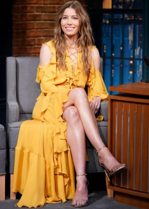 Jessica Biel on 'Late Night with Seth Meyers' in New York City