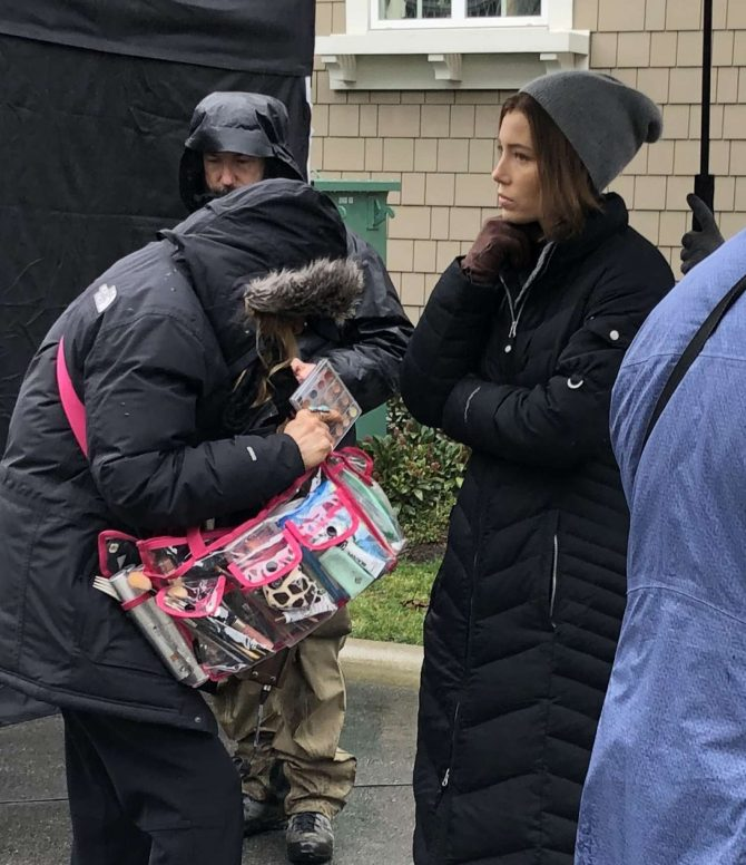 Jessica Biel – On set for 'Limetown' in Vancouver