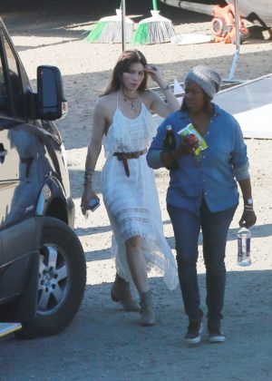 Jessica Biel - On the set of a untitled music video project in Los Angeles