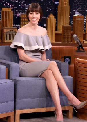 Jessica Biel on 'The Tonight Show Starring Jimmy Fallon' in NY