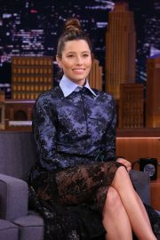 Jessica Biel - On 'The Tonight Show with Jimmy Fallon' in NY