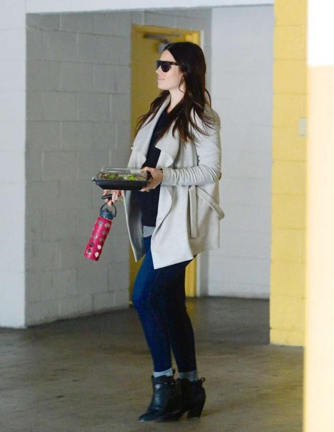 Pregnant Jessica Biel in Jeans Out in LA