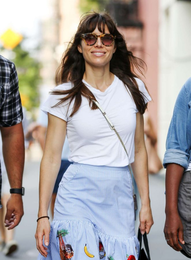 Jessica Biel - Out and about in Soho