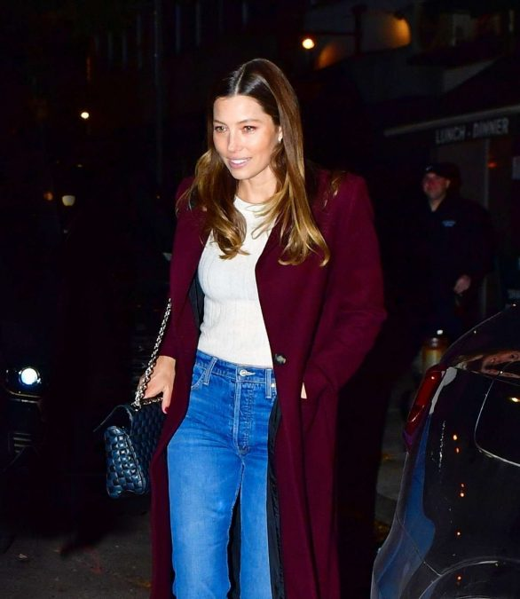 Jessica Biel - Out for dinner in New York