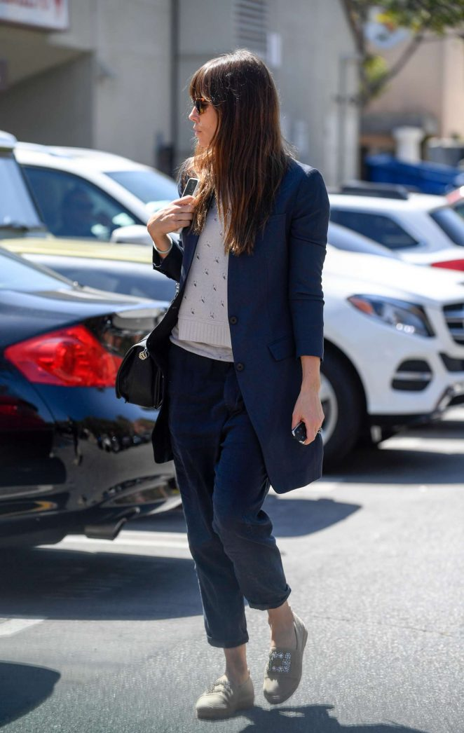 Jessica Biel out for lunch in Santa Monica