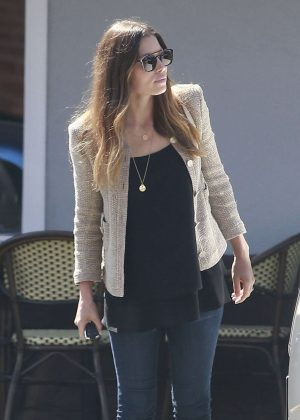 Jessica Biel out for lunch in West Hollywood