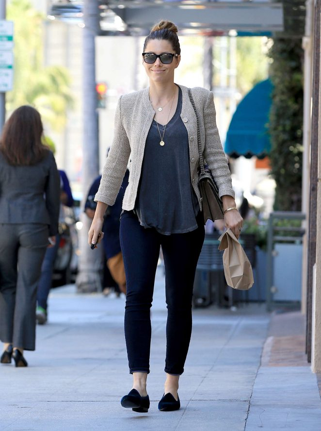 Jessica Biel out in Beverly Hills