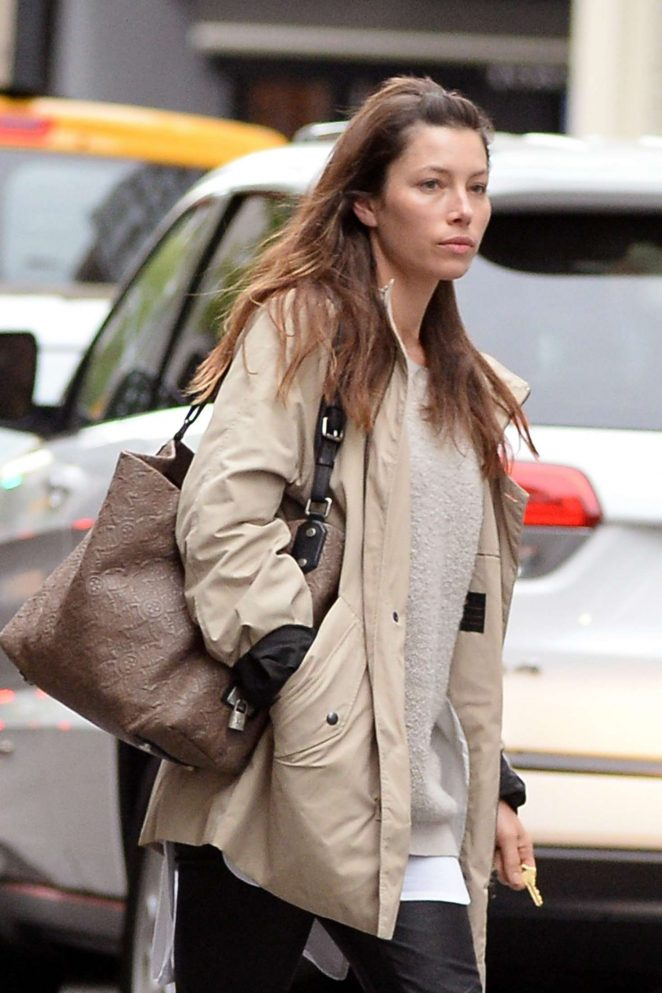 Jessica Biel out in Soho New York City