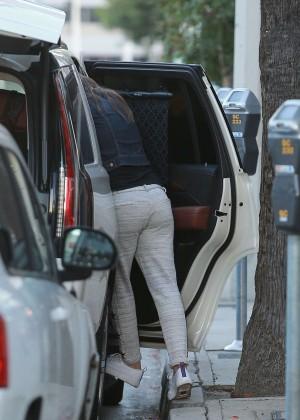 Jessica Biel: Booty in Sweats out in Studio City