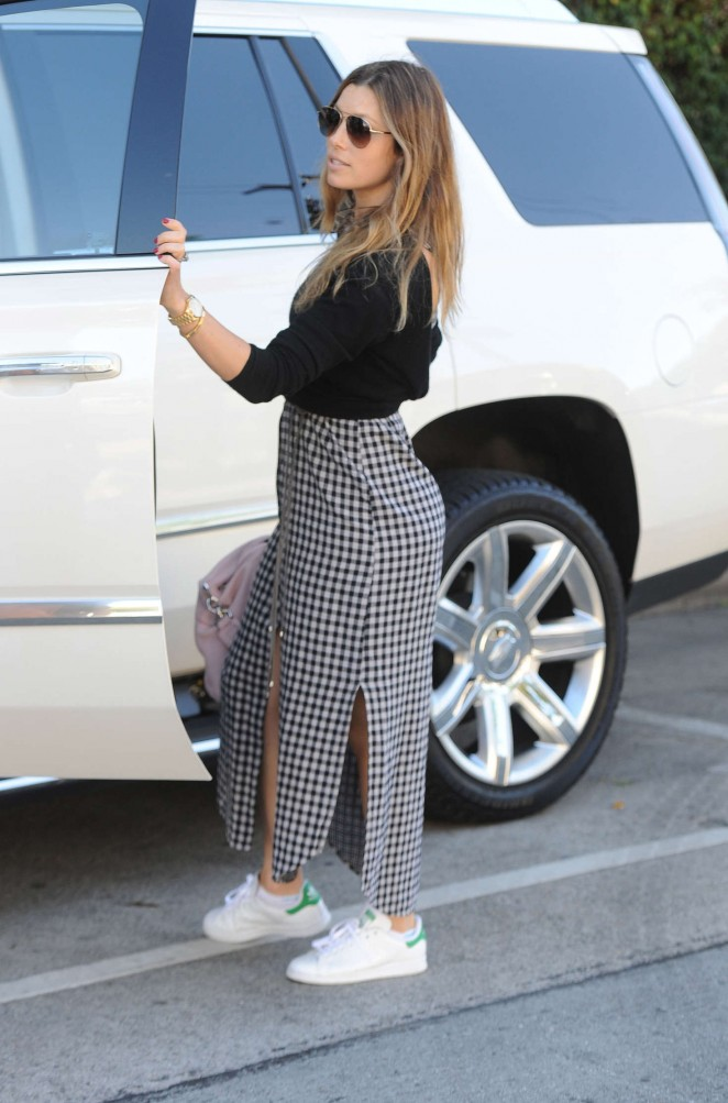 Jessica Biel out in West Hollywood