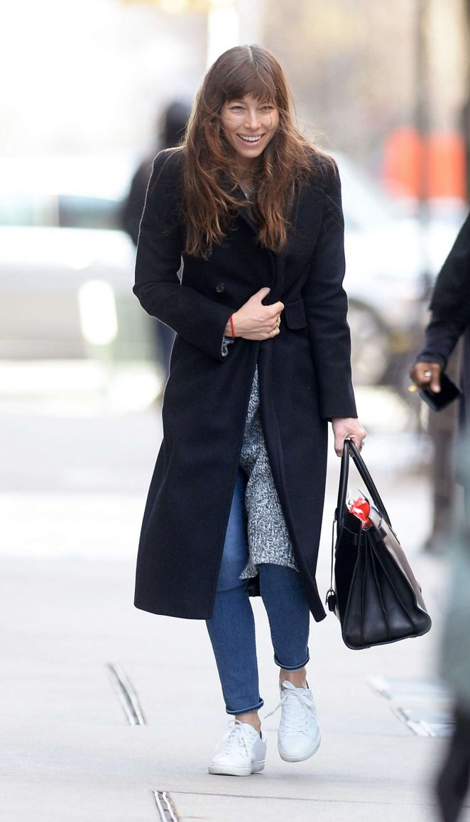 Jessica Biel out Shopping in New York