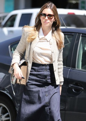 Jessica Biel - Shopping at Anthropology in Beverly Hills