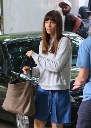 Jessica Biel - 'The Sinner' Filming in New York