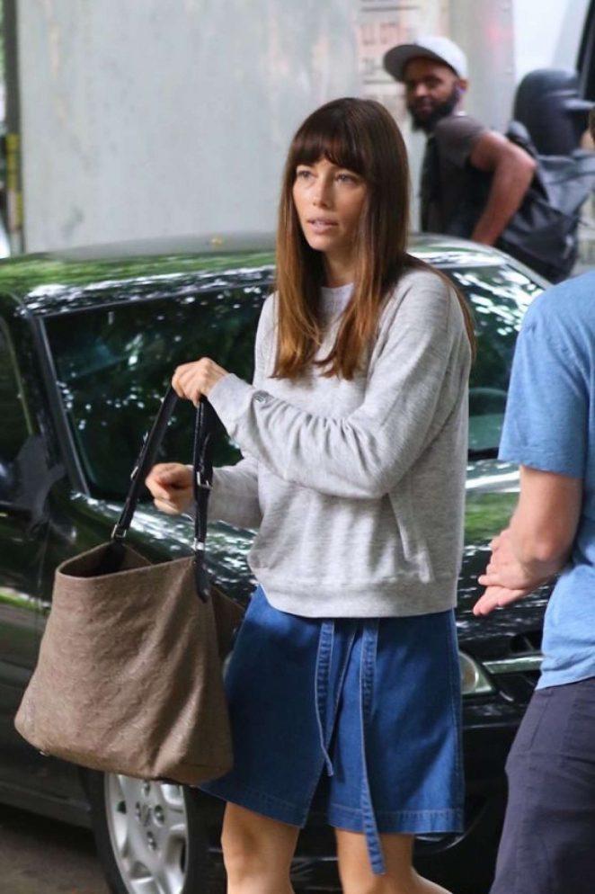 Jessica Biel - 'The Sinner' Filming in New York