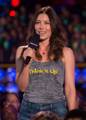 Jessica Biel - Think It Up Education Initiative Telecast in Santa Monica