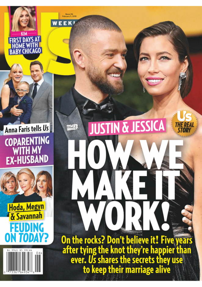 Jessica Biel - Us Weekly Magazine (February 2018)