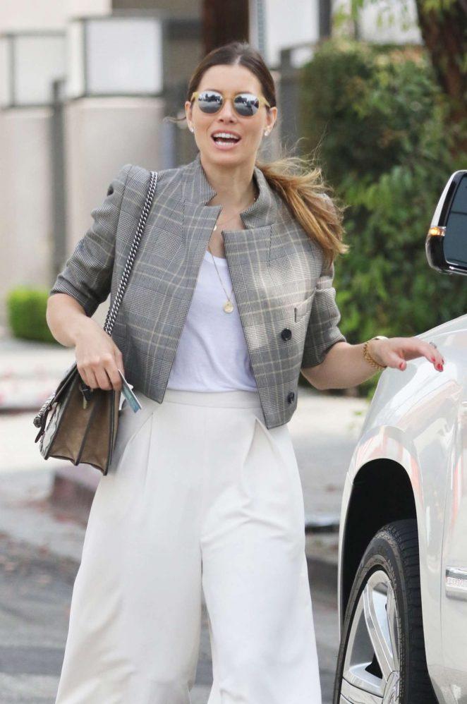 Jessica Biel visits Au Fudge in West Hollywood
