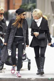Jessica Biel with her mom Kimberly Biel out in New York City