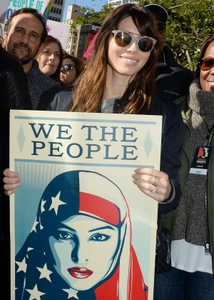 Jessica Biel - Women's March on Los Angeles