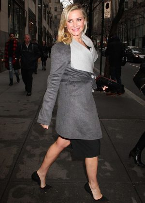 Jessica Capshaw - Leaves the NBC studios in New York