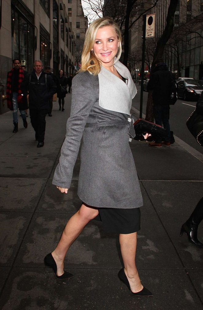 Jessica Capshaw: Leaves the NBC studios -04