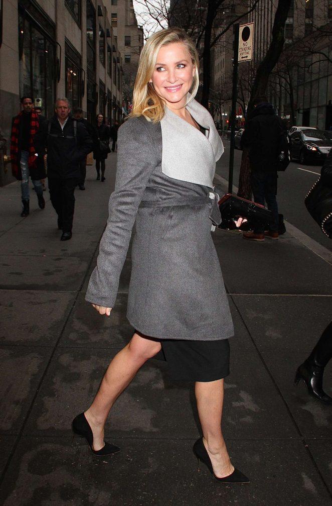 Jessica Capshaw – Leaves the NBC studios in New York