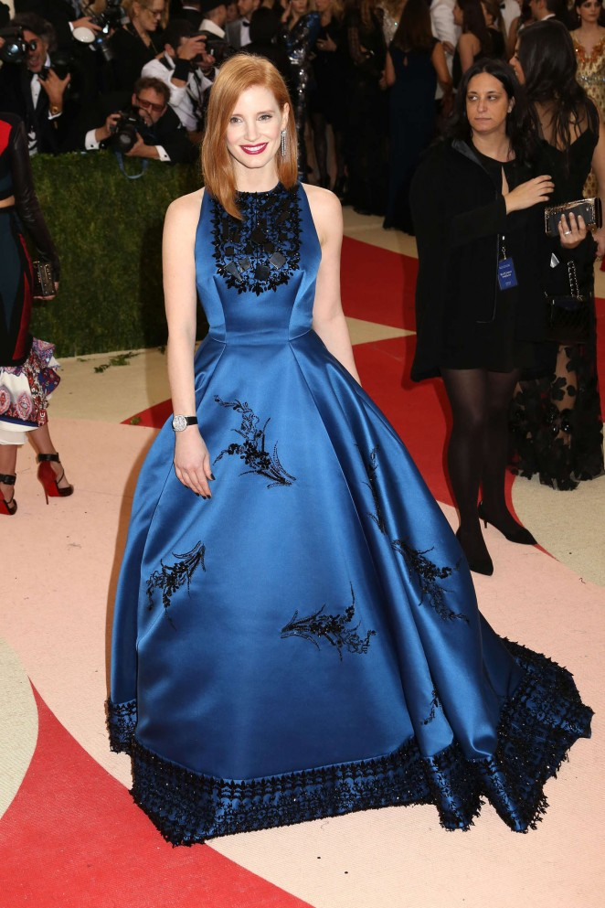 Jessica Chastain - 2016 Met Gala in NYC