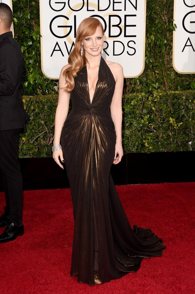 Jessica Chastain - 2015 Golden Globe Awards in Beverly Hills