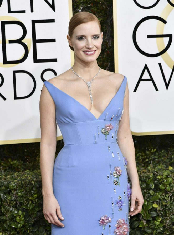 Jessica Chastain - 74th Annual Golden Globe Awards in Beverly Hills