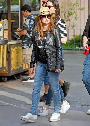 Jessica Chastain and her husband Gian Luca Passi de Preposulo at Disneyland