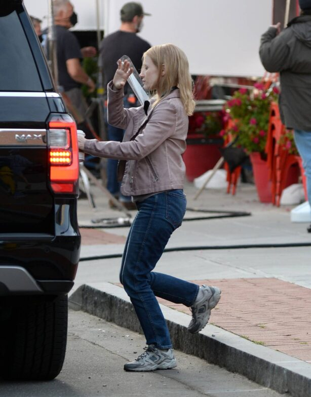 Jessica Chastain - are spotted on set of 'The Good Nurse'