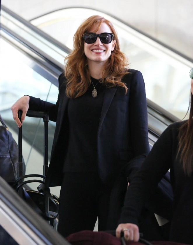 Jessica Chastain - Arrives at LAX Airport in LA