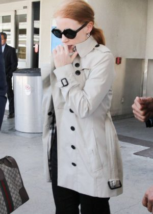 Jessica Chastain - Arrives at LAX Airport in Los Angeles
