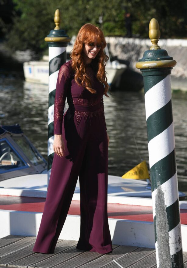 Jessica Chastain - Arrives at Lido in Venice