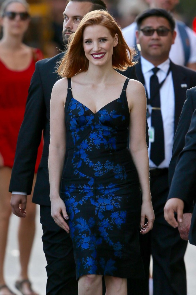 Jessica Chastain - Arriving at Jimmy Kimmel Live in Hollywood