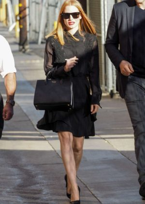 Jessica Chastain - Arriving at 'Jimmy Kimmel Live' in Hollywood