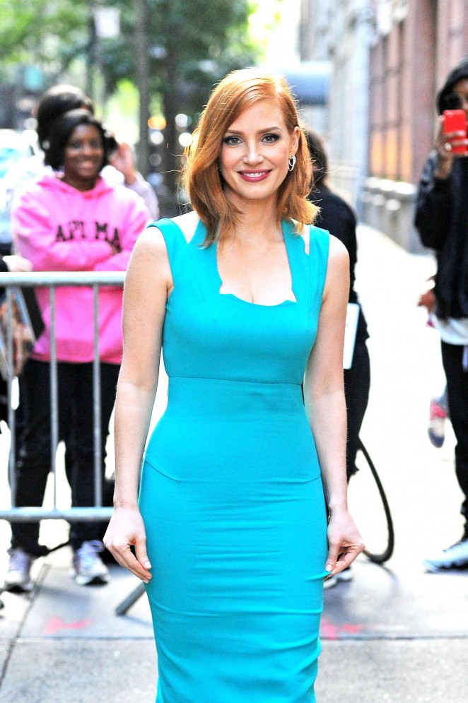 Jessica Chastain - Arriving at Live with Kelly & Michael in New York