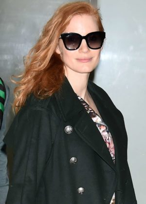 Jessica Chastain - Arriving at Narita International Airport in Narita
