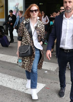 Jessica Chastain - Arriving at Nice Airport