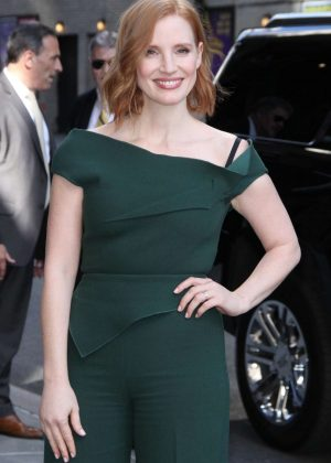 Jessica Chastain - Arriving at 'The Late Show with Stephen Colbert' in NY