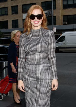 Jessica Chastain - Arriving at the Produced By Conference's 'Power to Shake it Up' panel in NYC