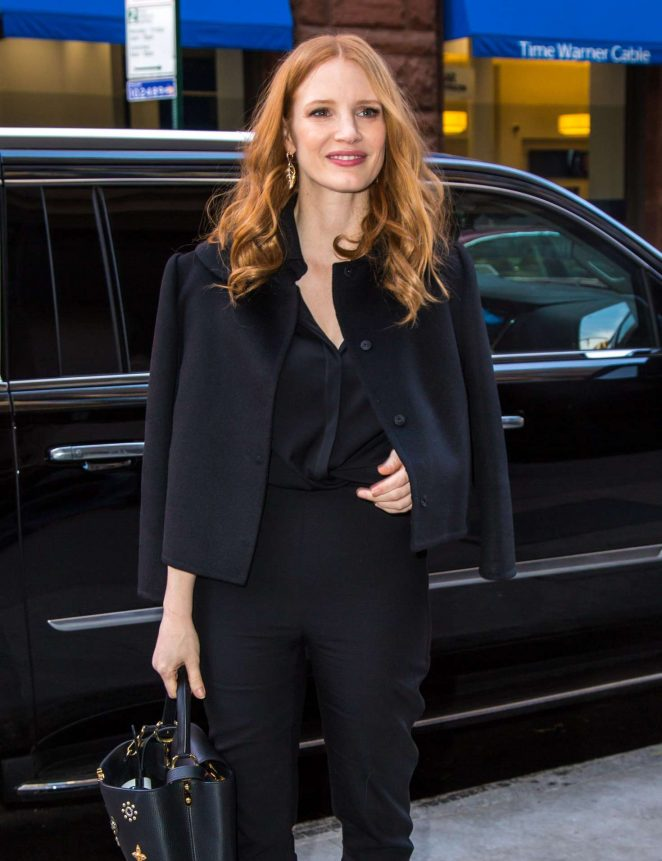 Jessica Chastain at AOL Build Series in NYC