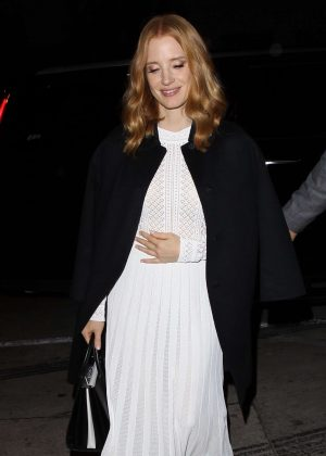 Jessica Chastain at Catch LA Restaurant in West Hollywood