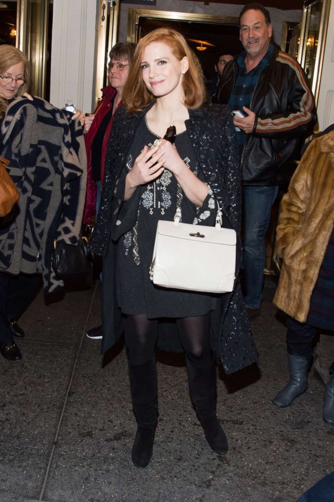 Jessica Chastain at the 'China Doll' on Broadway in NYC